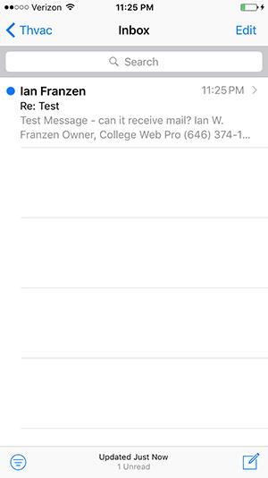 iPhone E-mail Configuration